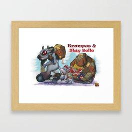 Krampus & Slay Belle Framed Art Print