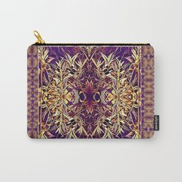 Midwestern Autumn, Foliage, Dry Plants, Purple Nature Pattern Carry-All Pouch