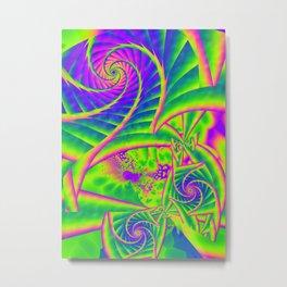 Dingle Berries Psychedelic Fractal Metal Print