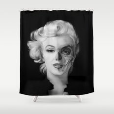 Dead Celebrities Series Half Skull Shower Curtain