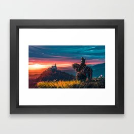 Witcher - Beyond Hill Framed Art Print