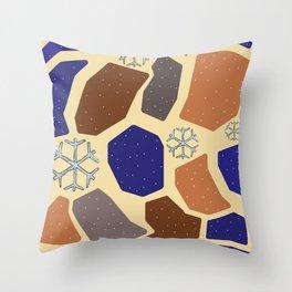 Winter Terracotta Throw Pillow