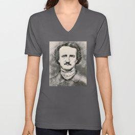 Edgar Allan Poe rare photo Unisex V-Neck