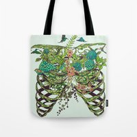 huebucket Tote Bags featuring Daydreamer by Huebucket