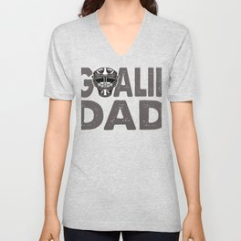 Ice Hockey Goalie Dad  Unisex V-Neck