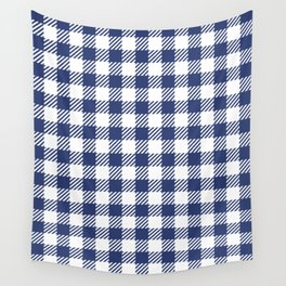 Blue Vichy Wall Tapestry