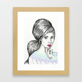 Intrigué in Drops of Watercolour Framed Art Print
