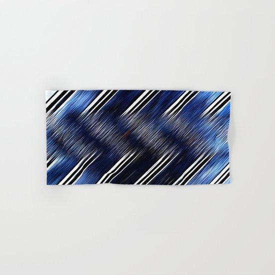 Abstract #Blue #Black #3 #art #society6 Hand & Bath Towel