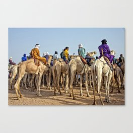 Nomads and camels - Niger, West Africa Canvas Print