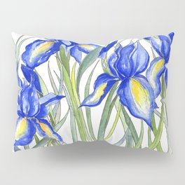 Blue Iris, Illustration Pillow Sham