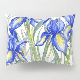 Blue Iris, Illustration Pillow Sham