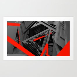 Prototype Red  Art Print