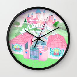 g1 my little pony the movie 1986 movie tribute poster Wall Clock