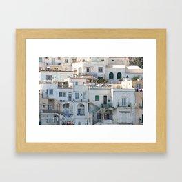 Windows and doors, Capri, Italy Framed Art Print