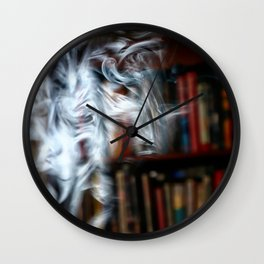painting with Smoke - Dancing Horse Wall Clock