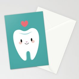 Happy teeth Stationery Cards