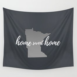 Minnesota Home Sweet Home Grey Wall Tapestry