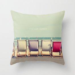 Vintage Summer Throw Pillow