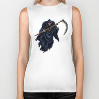 castlevania Biker Tanks featuring Trick or Treat by VGPrints