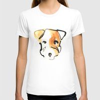 jack russell T-shirts featuring Jack Russell by Jen Moules