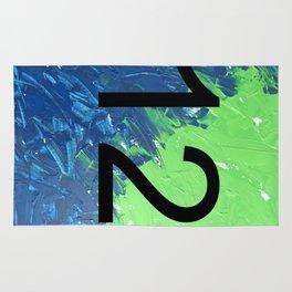 Blue & Green, 12, No. 2 Rug