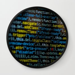 Code Master (Color) Wall Clock
