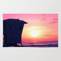 Mission Beach Sunset Rug