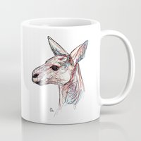 kangaroo Mugs featuring Kangaroo by Ursula Rodgers