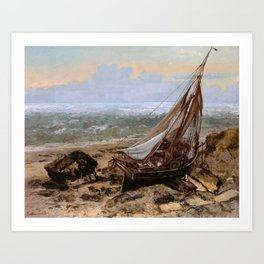 The Fishing Boat by Gustave Courbet , 1865 Art Print
