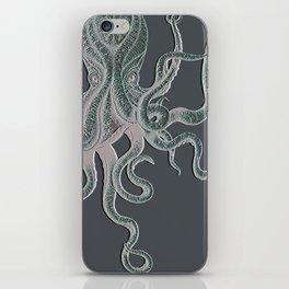 VINTAGE OCTOPUS Negative Grey iPhone Skin