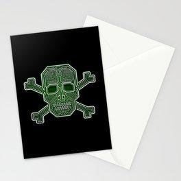 Hacker Skull Crossbones (isolated version) Stationery Cards