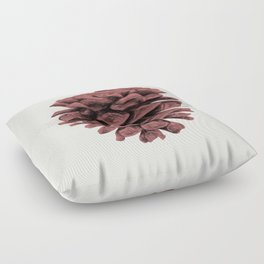 Red Pine Cone Floor Pillow