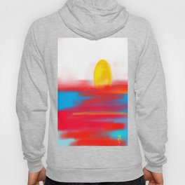 Sketchy Sun and Sea. Sunset and Sunrise Sketch Hoody