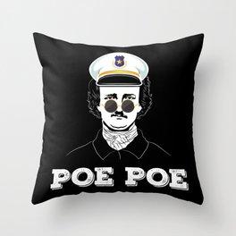 Poe Poe Police - Edgar Allan Poe Throw Pillow