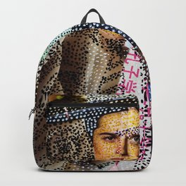 Man and Machine - Magazine Collage Painting Backpack