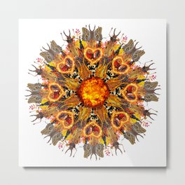 horrible insects mandala Metal Print
