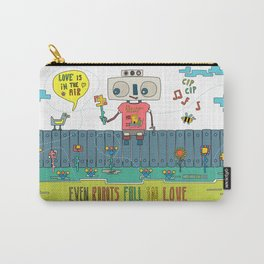 Even robots fall in love Carry-All Pouch