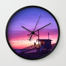 Sunset Tower Wall Clock