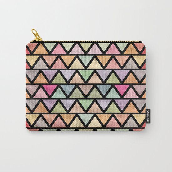 Lovely geometric Pattern V Carry-All Pouch