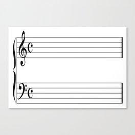 Blank Music Stave Canvas Print