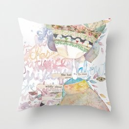 wildly about. Throw Pillow
