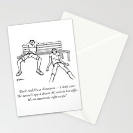 Swipe Right Stationery Cards
