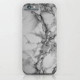 Gray and Black Marble iPhone Case