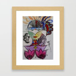 I see colour again Framed Art Print
