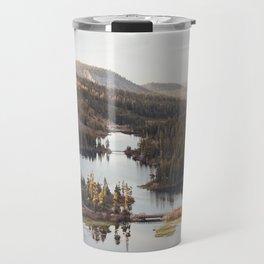 Looking Down at Twin Lakes Travel Mug