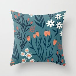 HAND PAINTED AUTUMN / SPRING FLORAL BOUQUETS Throw Pillow