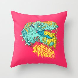 Jurassick Puke Throw Pillow