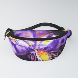 Violet Iris Fanny Pack