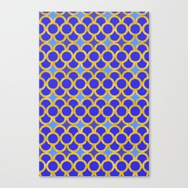 Blue Gold Scales Canvas Print