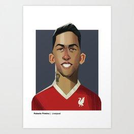 Football Heroes - Liverpool FC - Firmino Art Print